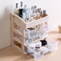 Cosmetics storage box racks desktop drawer sorting box dormitory artifact dressing table skin care products storage rack