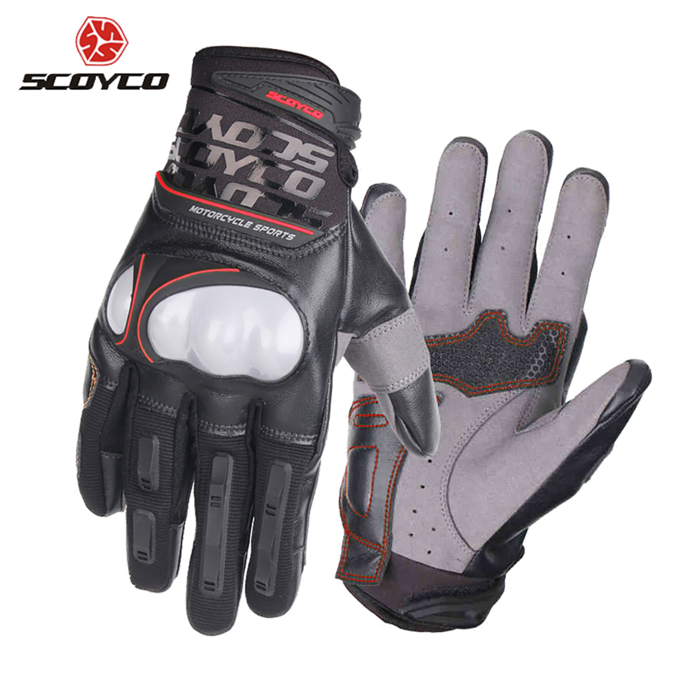 SCOYCO Motorcycle Glove Motocross Moto Gloves Motorcycle Off Road Racing Gloves Breathable Injection Shell Protection Design pro biker motorcycle riding gloves breathable motocross off road racing moto full finger gloves with stainlesssteel injection