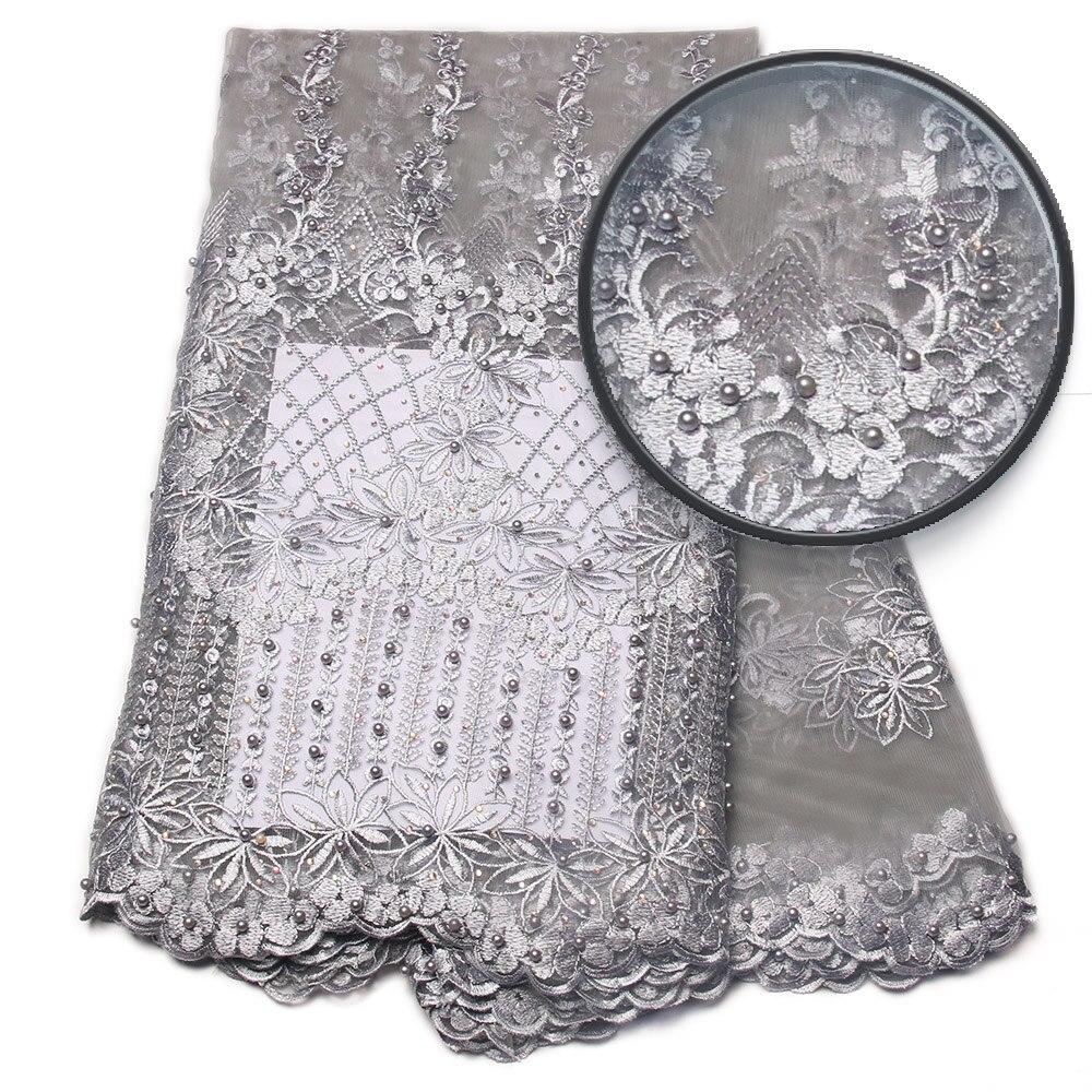 Nuovi tessuti del merletto nigeriano di arrivo per nozze 2017 tessuto - Arti, mestieri e cucito