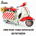 Vintage metal motorcycle Vespa model mini model RED Roman Holiday motorcycle with Camp basket toy Diecast metal model motorcycle