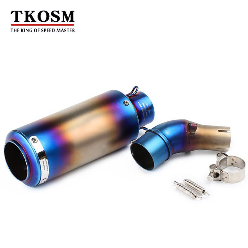 TKOSM Motorcycle Exhaust Muffler Pipe Link Stainless Steel Exhaust Middle Pipe Escape FOR YAMAHA YZF-R3 R3 R25 2015 2016 Slip-On