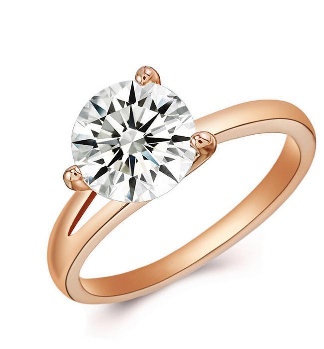 mejor tienda de colores oro k verdadero plateado oro circn anillos cristalinos de