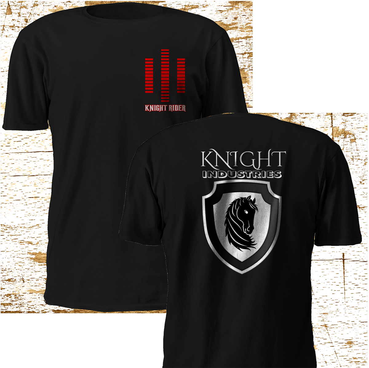2019 Fashion Double Side New Rare Knight Rider Kitt Industries Michael Black Tv T-Shirt S-3Xl Unisex Tee