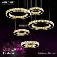 2016 New LED Lighting Clear Crystal Ceiling Light Fixture High Quality Stainless Steel LED Mounted Ceiling