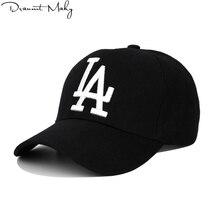 Nueva moda de LA gorra de béisbol de los Dodgers bordado Hip Hop hueso  Snapback sombreros para hombres y mujeres ajustable Gorra. 732fcf89fcdb