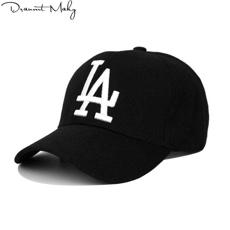 New Fashion LA   Baseball     Caps   Dodgers Embroidery Hip Hop bone Snapback Hats for Men Women Adjustable Gorras Unisex   Cap   wholesale
