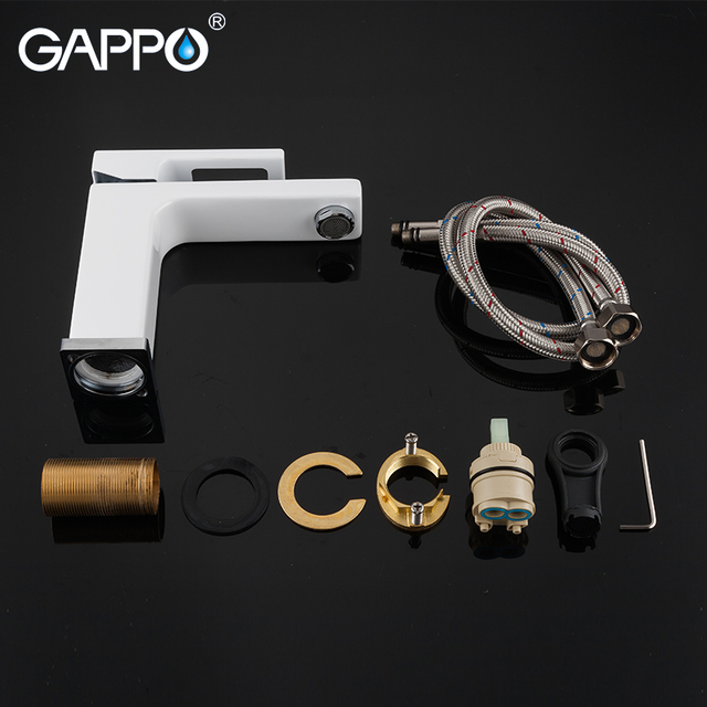 GAPPO basin faucets basin mixer sink faucet bathroom water mixer white brass faucets water faucet deck mount torneira 6