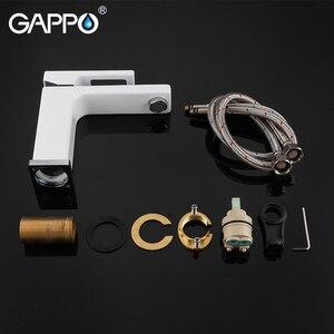 Image 5 - GAPPO rubinetti del bacino di miscelatore del bacino lavandino rubinetto del bagno miscelatore acqua bianco in ottone rubinetti acqua di rubinetto del bagno deck mount torneira