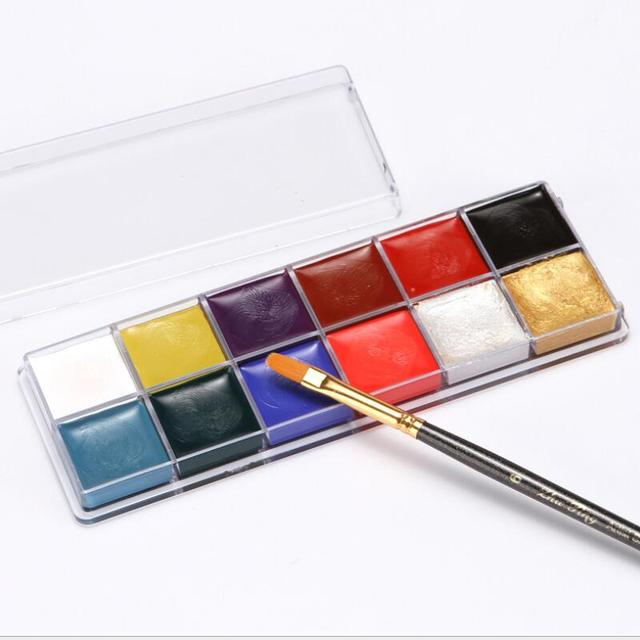 12 Colors Face Body Art Painting Body Paint Oil Painting Tattoo Makeup Cosmetic Bodypainting Halloween Party 3