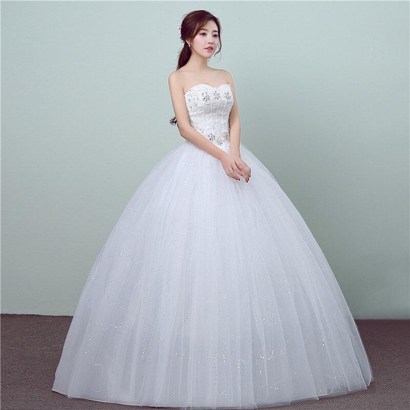 Luxury Wedding Dress 2017 New Fashion Lace Crystal Flowers Gelinlik ...