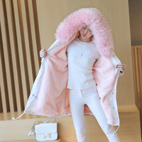S 4XL New Fashion Women Winter Cotton Jacket Hooded Fur Collar Thickening Warm Coat Big Yards