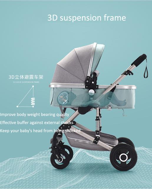 High Landscape Infant Baby Stroller Trolley