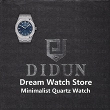 DIDUN Watch Mens Watches Top Brand Luxury Quartz reloj de pulsera impermeable minimalista reloj de pulsera con acero inoxidable 316