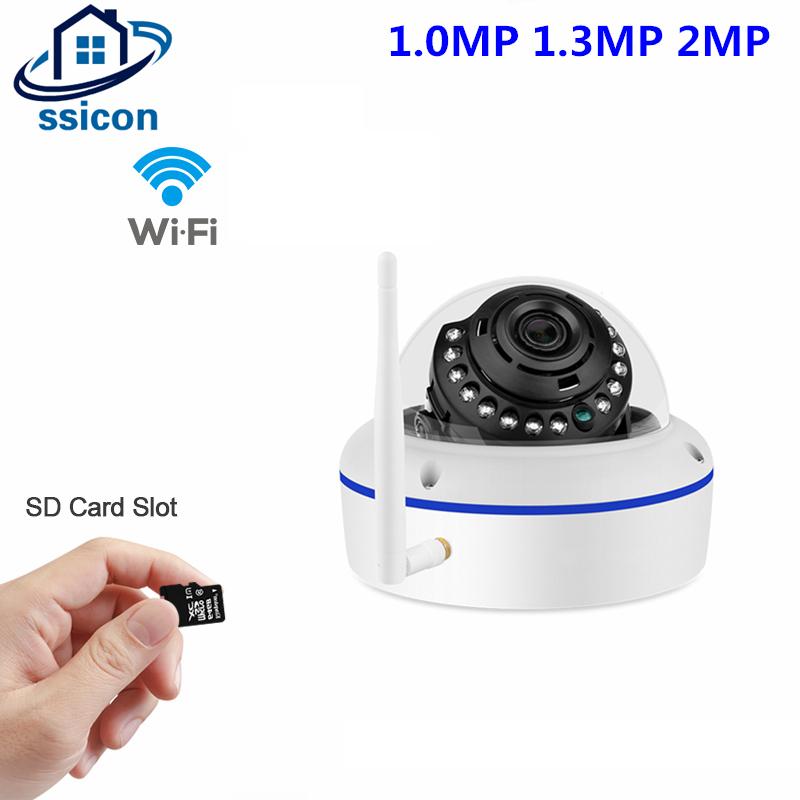 SSICON 1.0MP 1.3MP 2.0MP Wifi Metal Dome Camera Wireless 3.6mm Lens P2P Onvif Home Security IP Camera Wi-fi Support 64G SD Card ssicon 1 0mp 1 3mp wireless surveillance cctv camera ip 3 array leds waterproof wifi camera bullet outdoor support 64g sd card