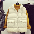 Plus Size Jacket&Outerwear Down Cotton jacket Winter Women Vest Thickening Waistcoat Sleeveless Short Vest Coat Female   LN180