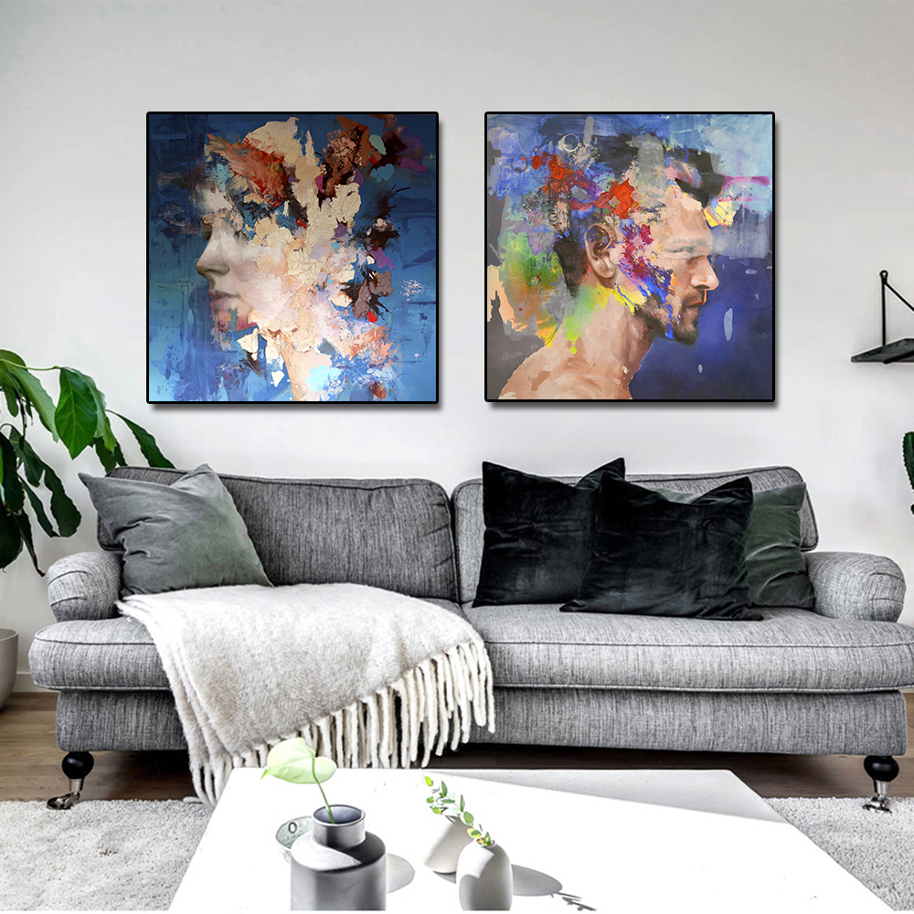 Figure Canvas Painting Posters Print on Canvas Wall Art Abstract Picture for Living Room Home Decor Abstract Painting No Frame in Painting Calligraphy from Home Garden