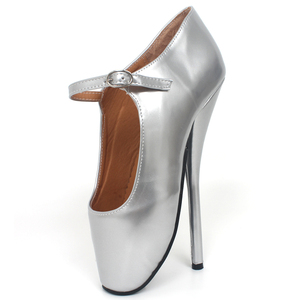 """Image 3 - Brand New 8"""" Sexy Ballet High Heels Shoes High Spike Heel Fetish Sexy Ballet Dancer Pointe Toe Ankle straps Pumps plus size"""