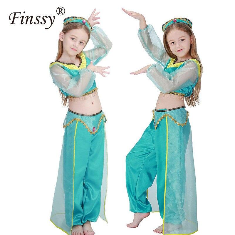 Hot Movie Aladdins Lamp Cosplay Costume Jasmine Princess -9143
