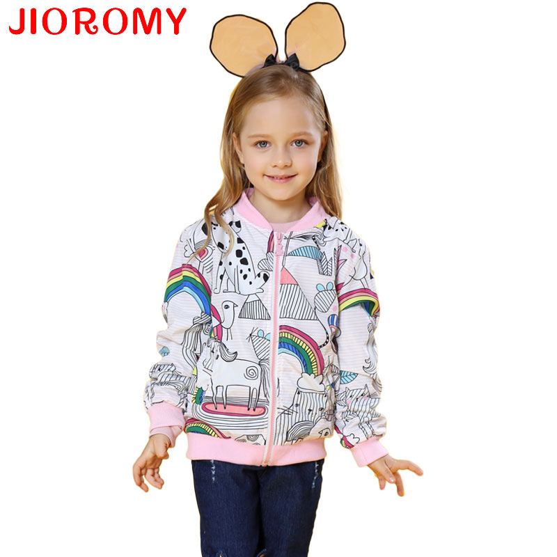 Spring 2018 New Cotton Baby Girls Coat Spend Three Flowers Lollipops Dot Jacket Cardigan Kids Children Clothing Autumn k1