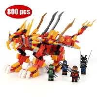800+pcs Red Ninja Lion Building Blocks Set Compatible Ninjagoes Dragon Kai Jay Figures Educational Toys Gifts for Children