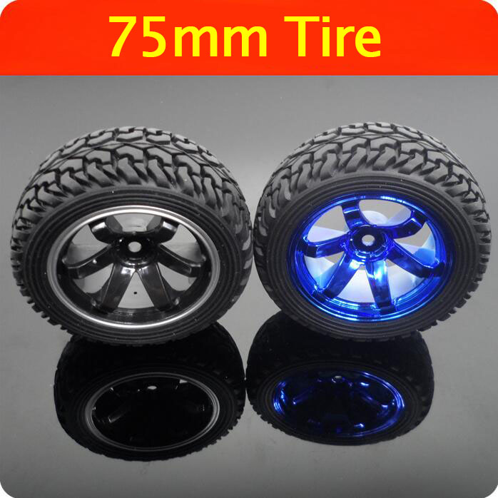 Free Shipping RC Car Model Tire Rubber Tyre+Foam+Plastics Wheel Hub Diameter 75mm Width 28.5mm Spare Parts auto spare parts front wheel hub bearing fit for bmw m5 513219 3885a016 free shipping