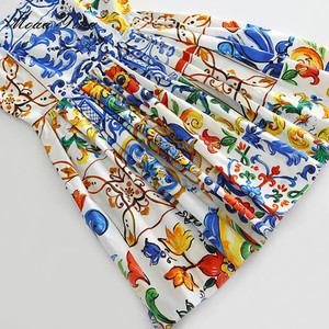 Image 5 - فستان صيفي من القطن عالي الجودة من MoaaYina فستان نسائي مطلي بالفخار مطبوع مثير بدون ظهر بحمالات رفيعة فستان بتصميم بوهيمي