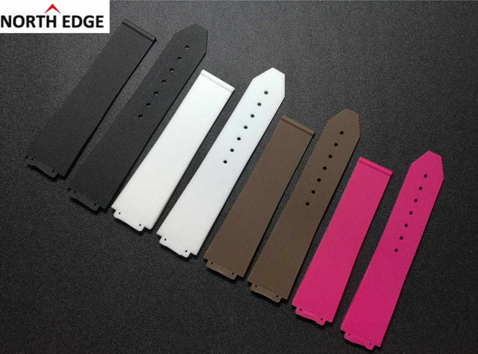 Warchband for Hublot female women rubber strap waterproof silicone watch accessories 15*21mm wrist belt band 18mm buckle