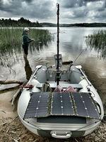 SUNPOWER 75 Вт 36 В в Гибкая Складная солнечная панель бескаркасная ткань портативное солнечное зарядное устройство для электрического морского