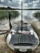 SUNPOWER 75 ватт 36 В Гибкая Складная солнечная панель бескаркасная ткань портативное солнечное зарядное устройство для Электрический морской двигатель torqedo