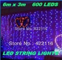 6 m * 3 m multicolor Cascada de Luz 600 SMD LED String Festival Strip Luces Decorativas de Vacaciones para PARTIDO, HADAS, NAVIDAD, BODA