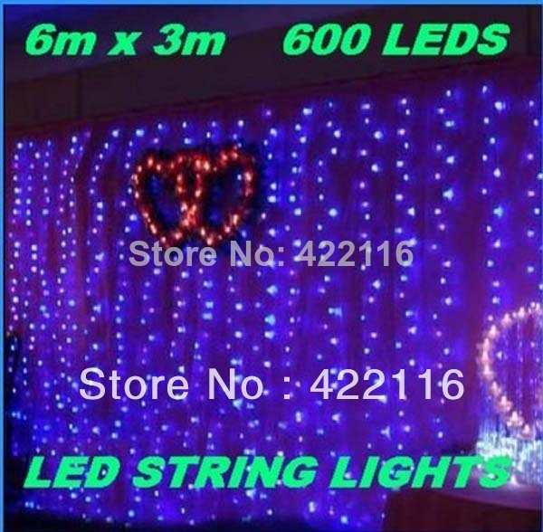 6m*3m Multi-color Waterfall Light 600 SMD LED String Strip Festival Holiday Decorative Lights for PARTY,FAIRY,CHRISTMAS,WEDDING