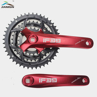 Mountain bike crankset aluminum alloy MTB bicycle crank sprocket 22T / 32T / 44T Square 7/8/9 speed crank fluted disc Parts