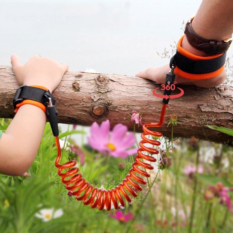 1.5-2.5 m Enfants Harnais de Sécurité Réglable Enfants Laisse Anti-perte-Bracelet Lien De Traction Corde Bébé Walker Bracelet!