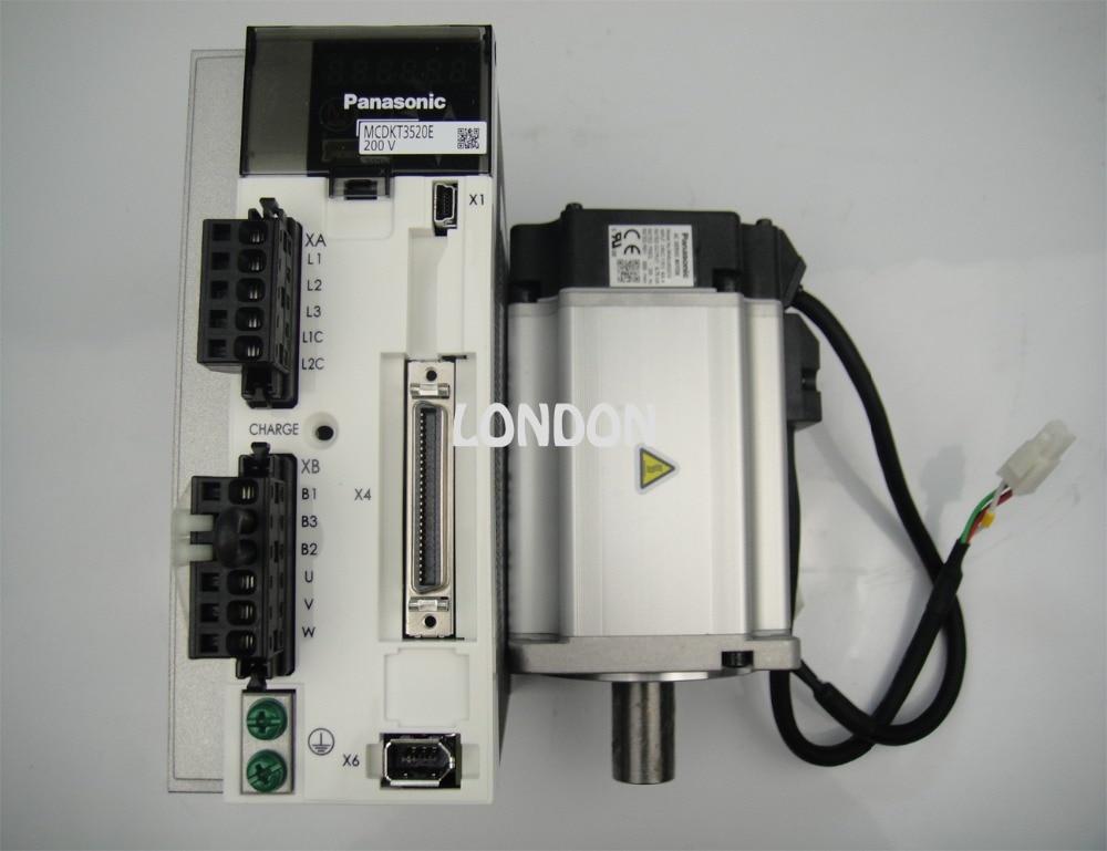 1 set 750W PANASONIC servo motor MHMJ082G1U+ 750W PANASONIC servo driver MCDKT3520E sgmjv 08ade6s sgdv 5r5a01a 200v 750w 0 75kw servo system new original