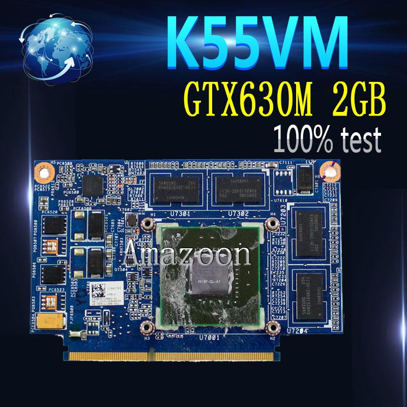 Amazoon K55VM GPU GTX 630M 2GB NP13P-GL-A1 Video Card for ASUS K55VM Laptop VGA Graphics Card Board 100% Tested Working image