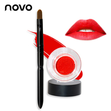 NOVO 24 Hours Cushion lipstick Lasting Lipsticks Liquid Matte Red Lipstick Beauty Brand Lips Makeup Set with A Lip Brush