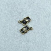 Diy ювелирных аксессуаров 50 шт./лот металл античная бронзовая подвески плавающей 3D горный хрусталь камеры fit jewerly создание Z42333