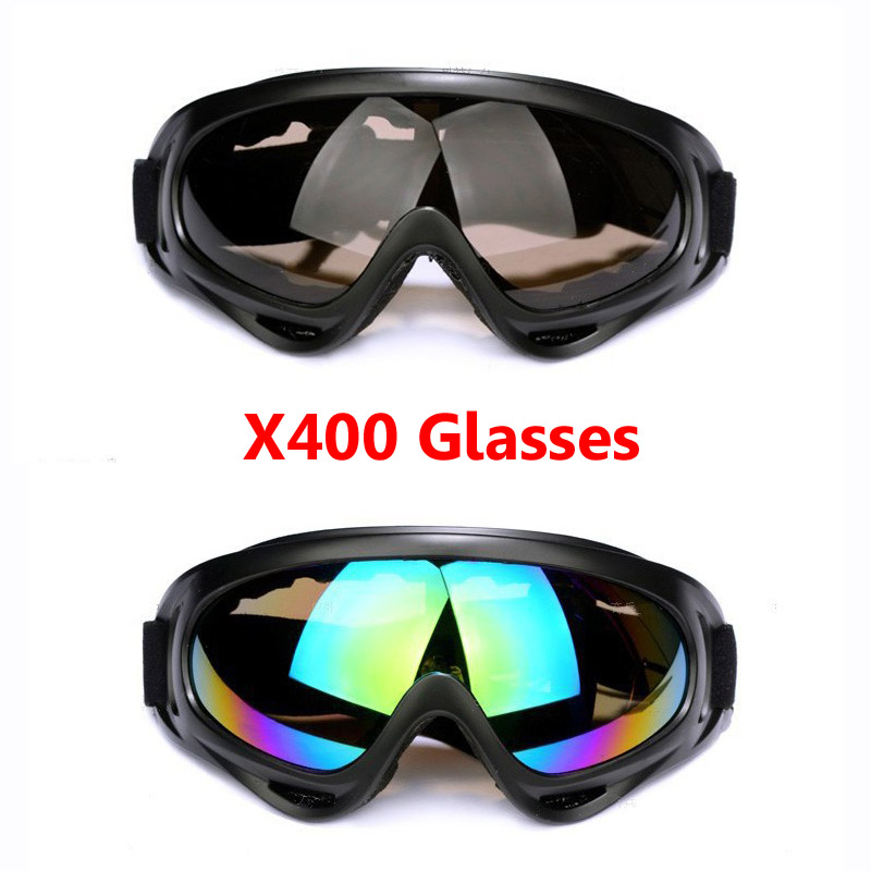 Safety Tactical X400 Glasses Skate Skiing Outdoor Sport Anti-fog Windproof Motorcycle Cycling UV Protection Sunglasses 5 Colors