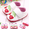 JENNY kids! newborn baby infant cotton magic hook first walkers baby girl children child leather floral soft soles shoes