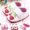Niños JENNY! bebé recién nacido bebé de algodón magia gancho floral de cuero de suela blanda primeros caminante del bebé niños niño zapatos