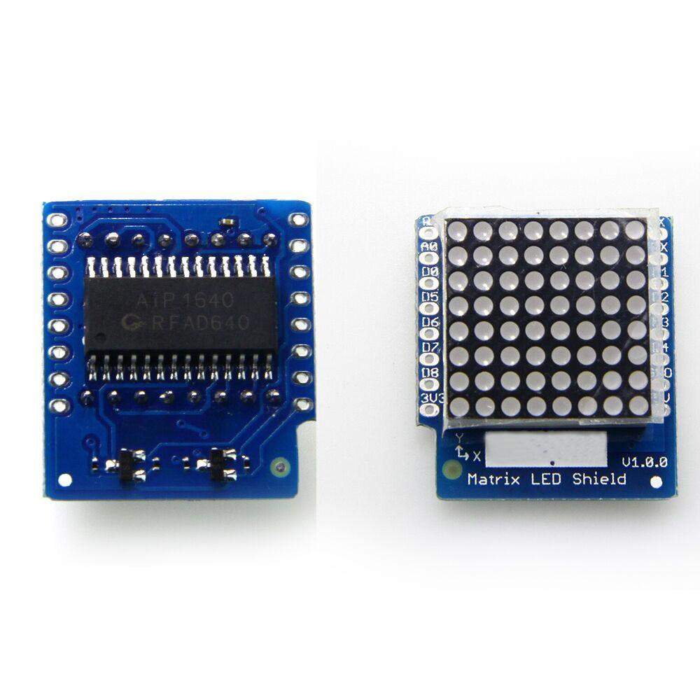 Matrix LED Shield V1.0.0 for WEMOS D1 mini ESP8266 development board