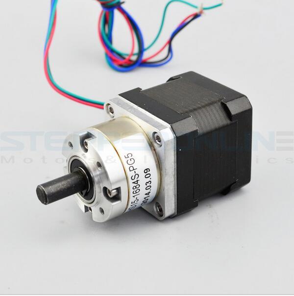 (Free ship)5.18:1 Planetary Gearbox Nema 17 Stepper Geared Motor 19.7Kg.cm,1.3A, DIY CNC Robot 3D Printer, 42BYGHW613AG5.18-X