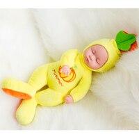 35 Cm Sleeping Doll Reborn Baby Doll Rotomolded PVC Dolls Baby Bath Toy Belt Water Dolls