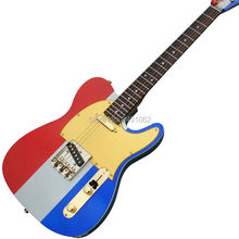 High quality custom customized electric guitar multi color flag new Guitar Free Shipping