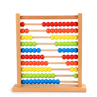 Montessori children 's wooden toys rainbow abacus early mathematics education children' s gifts