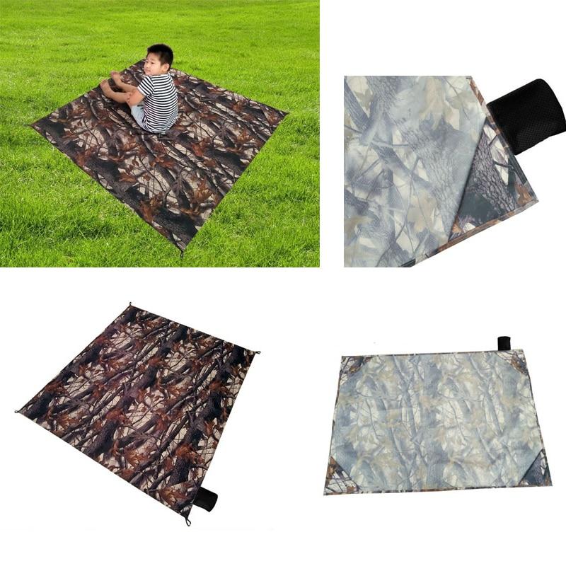 150*150cm Foldable Waterproof Pocket Blanket Picnic <font><b>Mattress</b></font> Beach Cushion Camping Outdoors Mat Moistureproof Pad w/ Bag