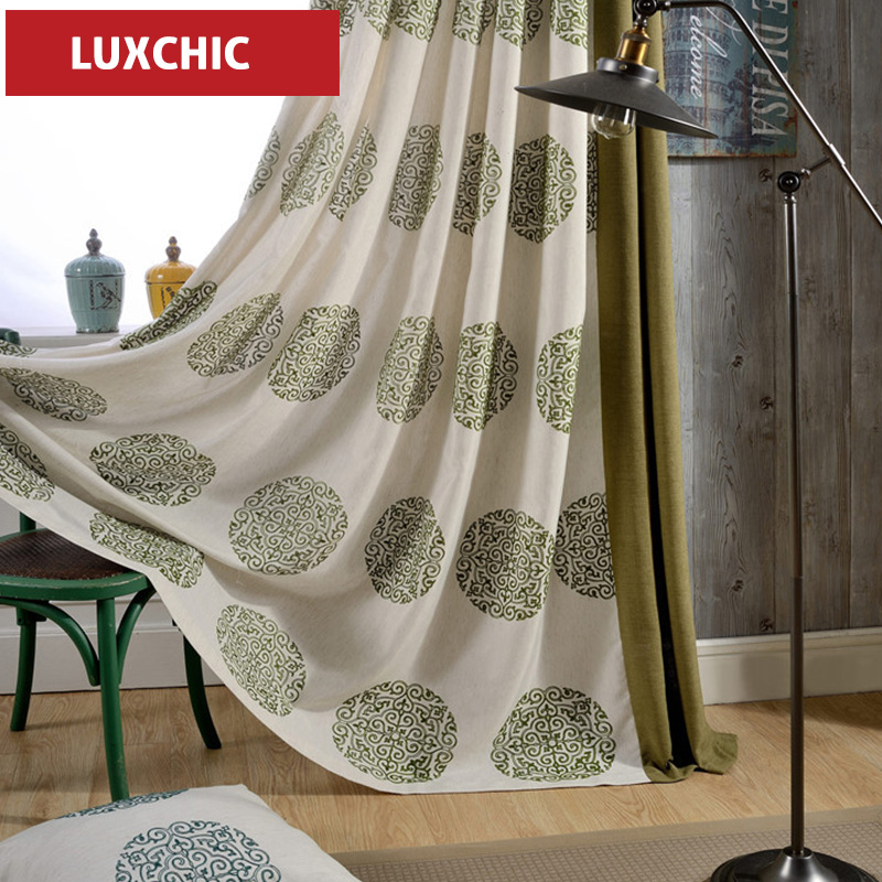 High Quality Wintersweet Yellow Linen Curtains For Bedroom Elegant Living Room Window Drapes Blinds Fabric Custom Made