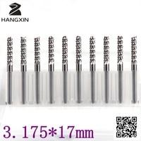 Ree Shipping 10PCS PCB Cutter 3 175mm 3 175mm 17mm Mini Corn Milling Carbide Engraving Cutters