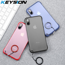 KEYSION Frameless Case for iPhone Xs max Transparent Coque 7 Silicone Xr 8 6 Plus Funda Luxury