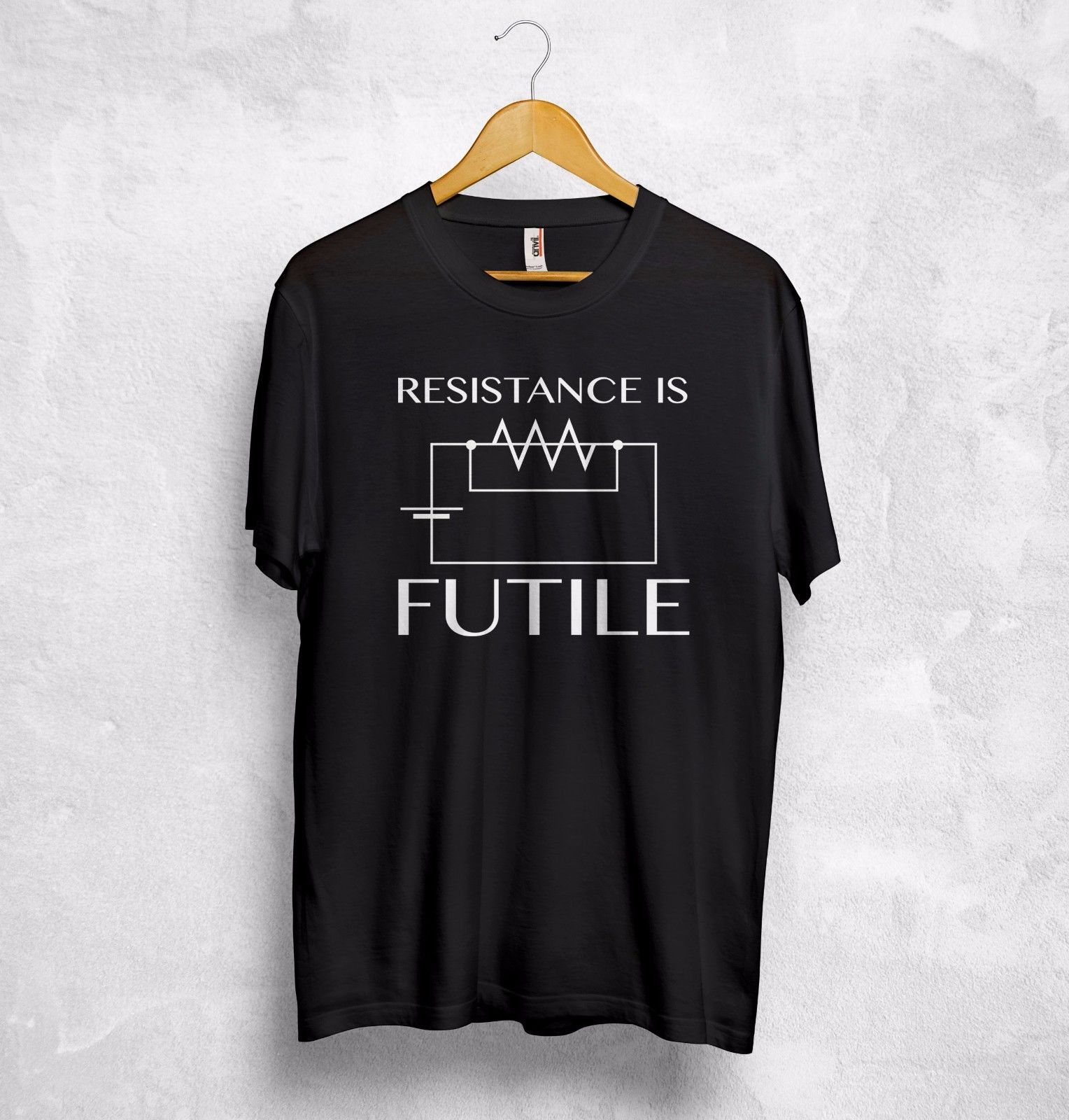 Resistance Is Futile T Shirt Top Electrotechnics Electrician Electronic Ohms Law Men Summer Short Sleeves Casual T-Shirt